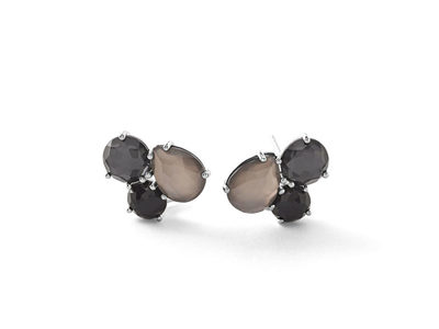 Cropped product listing rock candy black tie cluster earrings