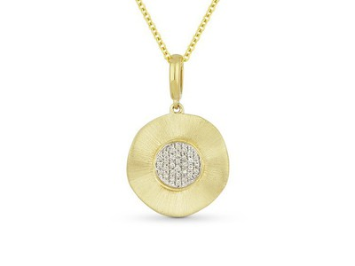 Cropped product listing diamond disc necklace