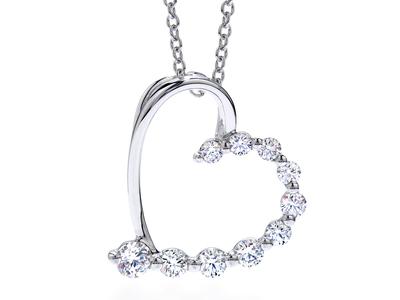 Cropped product listing amorous journey heart necklace
