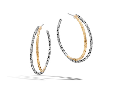 Cropped product listing classic chain small hoop earrings
