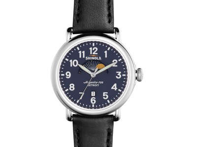 Cropped product listing the runwell moon phase 41mm