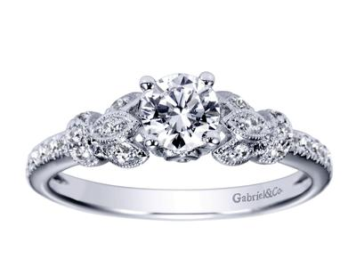 Cropped product listing floral engagement ring