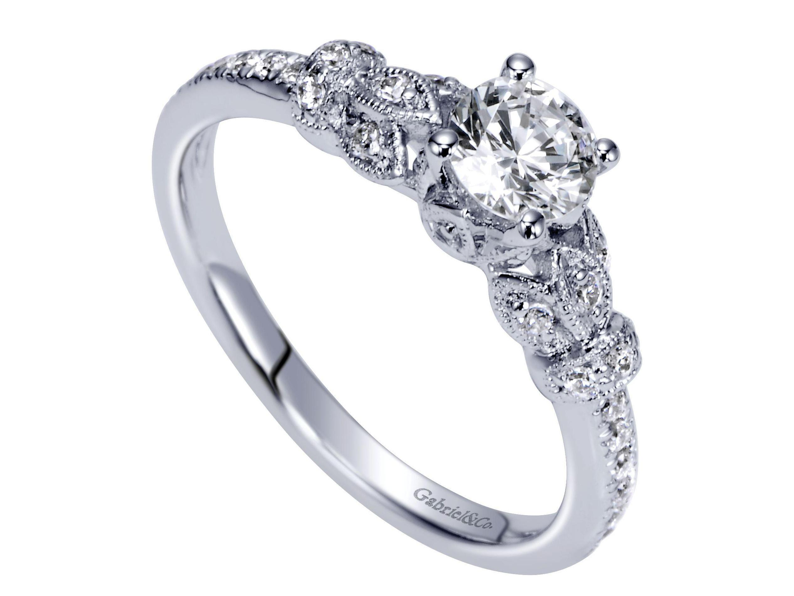 Floral Engagement Ring — Murphy Jewelers