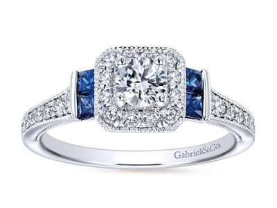 Cropped product listing sapphire engagement ring