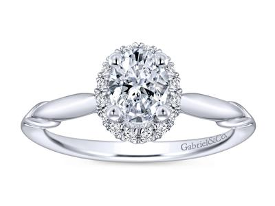 Cropped product listing oval contemporary engagement ring