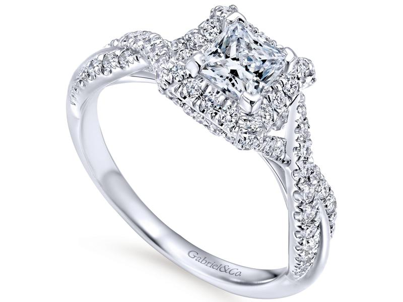 Cropped product page twisting contemporary engagement ring
