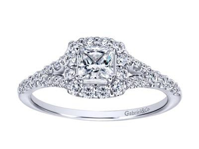 Cropped product listing princess cut split side engagement ring