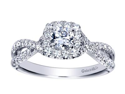 Cropped product listing intertwining engagement ring