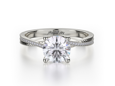 Cropped product listing twist solitaire engagement ring