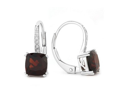 Cropped product listing garnet earrings