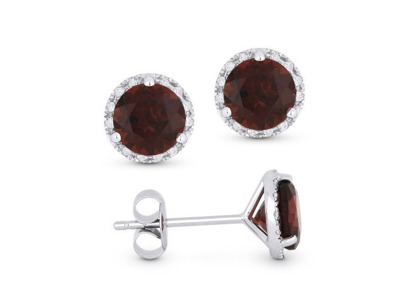 Cropped product page garnet stud earrings