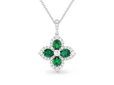 Cropped product listing emerald necklace