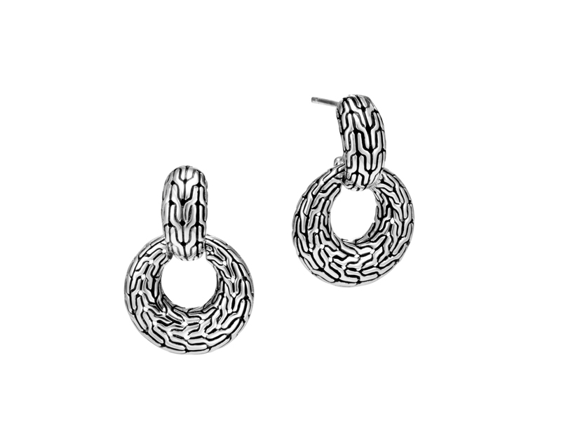 Cropped product page classic chain door knocker earrings