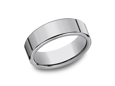 Cropped product listing tungsten wedding band