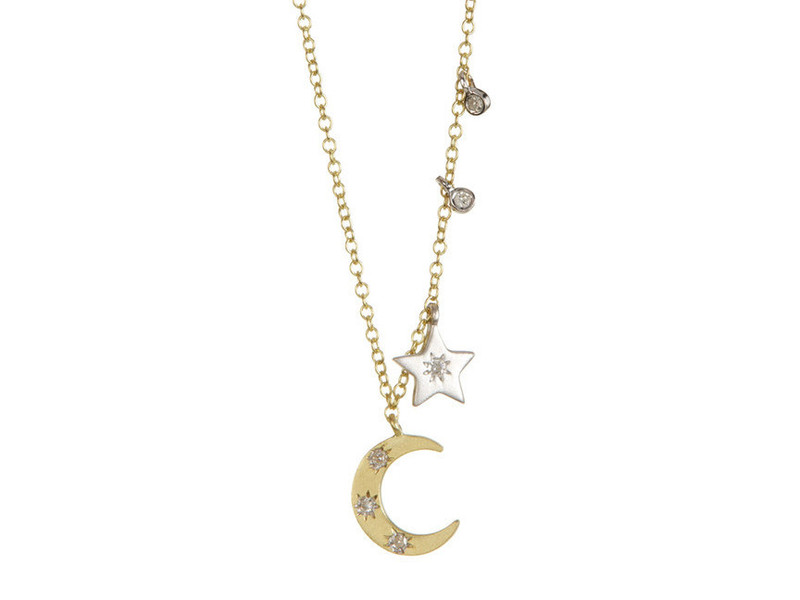 Cropped product page moon and star necklace