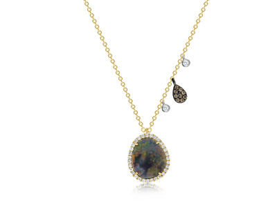 Cropped product listing opal diamond necklace