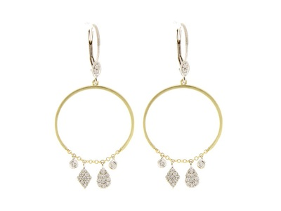 Cropped product listing open circle earrings