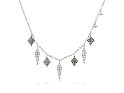 Cropped product listing diamond fringe necklace