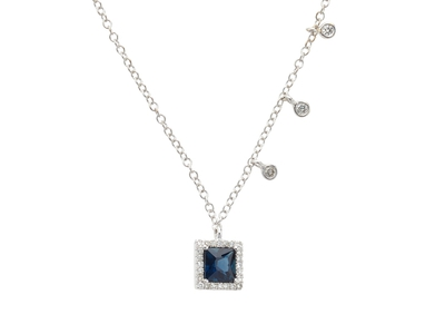 Cropped product listing blue sapphire diamond necklace