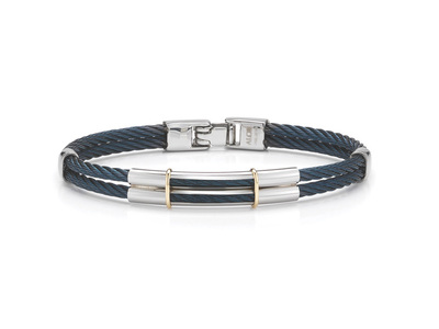 Cropped product listing gents two row blue bracelet