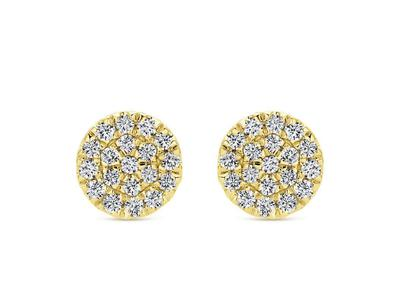 Cropped product listing diamond cluster stud earrings