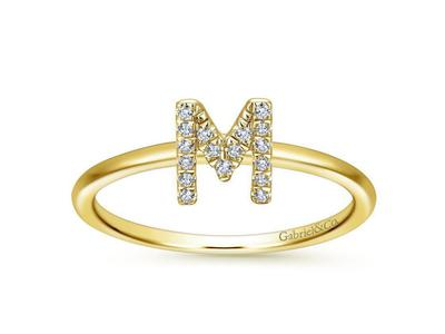 Cropped product listing diamond m initial ring