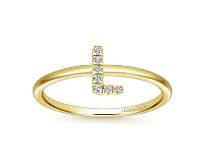 Cropped product listing diamond l initial ring