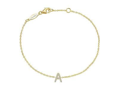 Cropped product listing diamond a initial bracelet