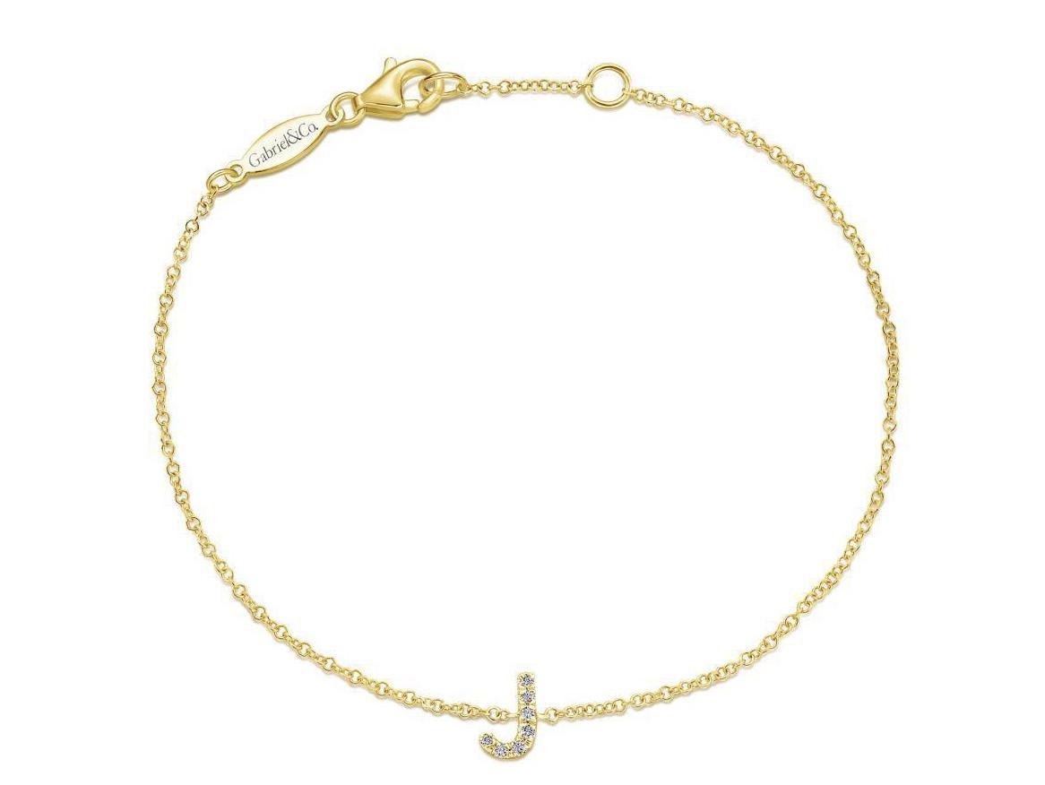 Diamond J Initial Bracelet Murphy Jewelers