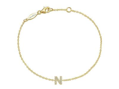Cropped product listing diamond n initial bracelet