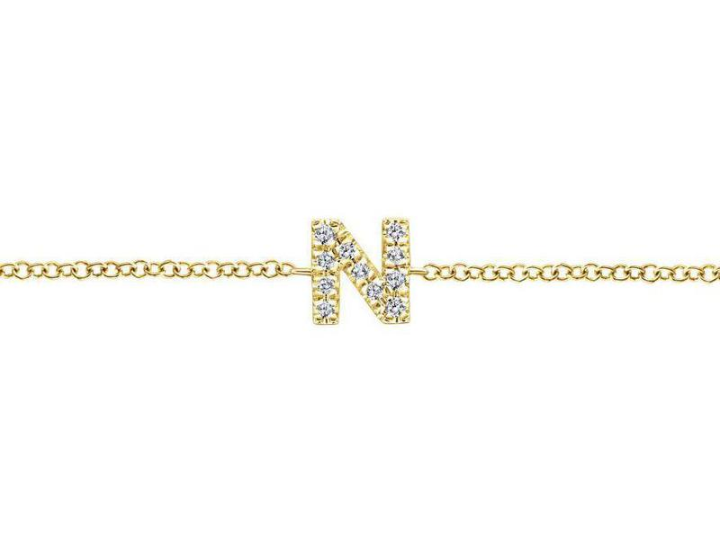 Cropped product page diamond n initial bracelet
