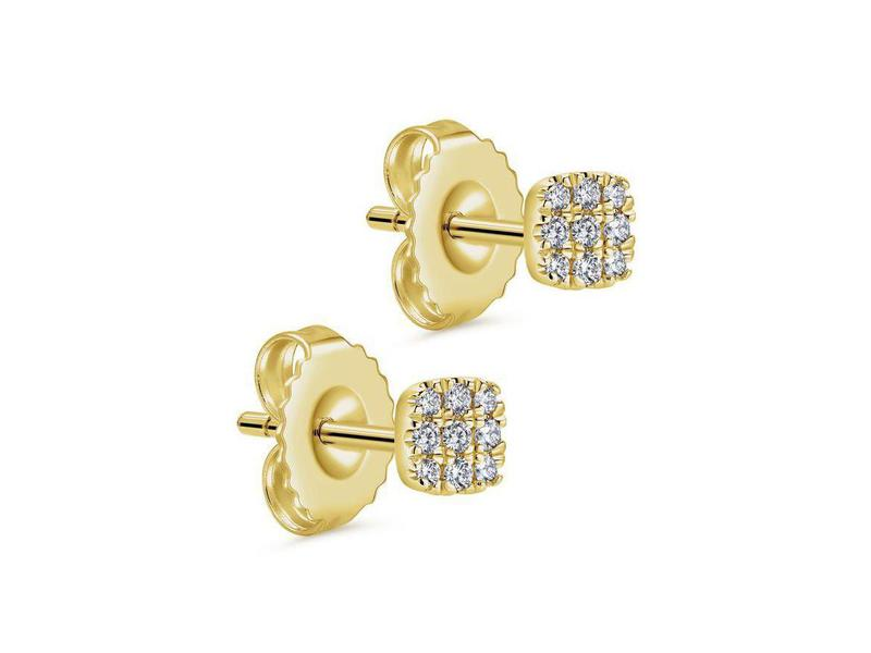 Cropped product page square diamond cluster stud earrings