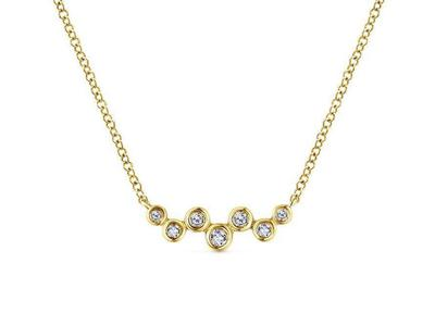 Cropped product listing floating diamond bar necklace