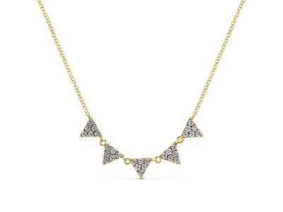 Cropped product listing diamond triangle necklace
