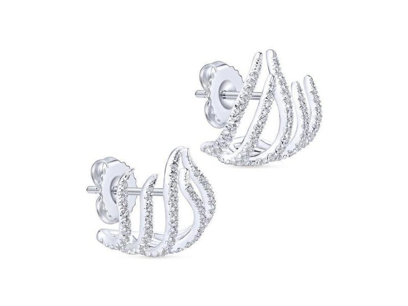Cropped product page diamond crawling stud earrings