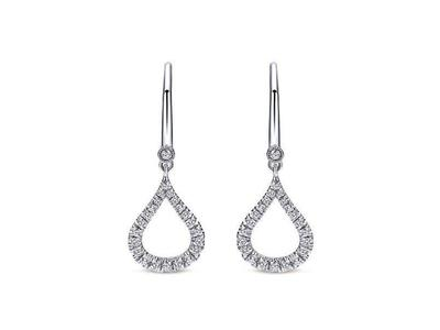 Cropped product listing diamond teardrop earrings