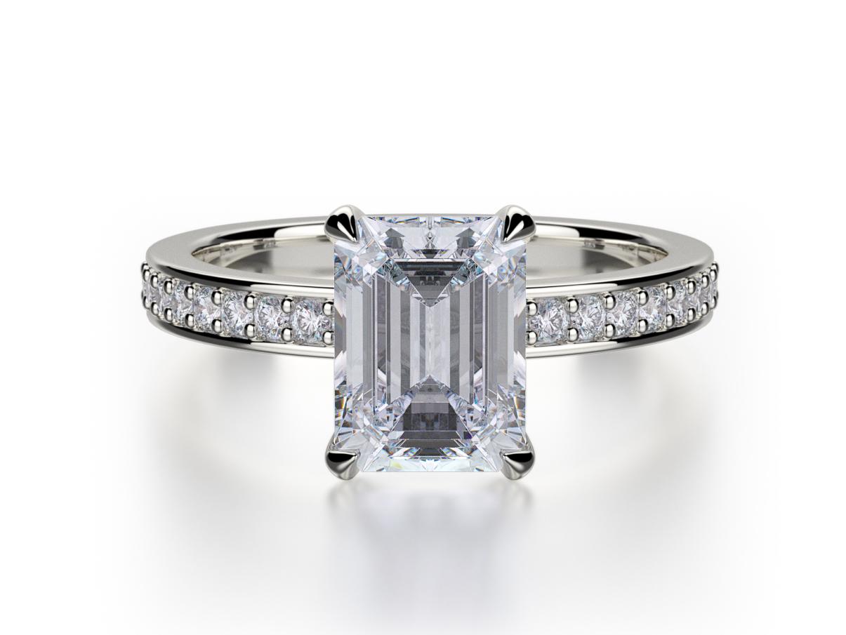 Emerald Cut Wedding Rings 023 - Emerald Cut Wedding Rings
