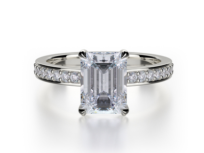 Cropped product listing emerald cut engagement ring