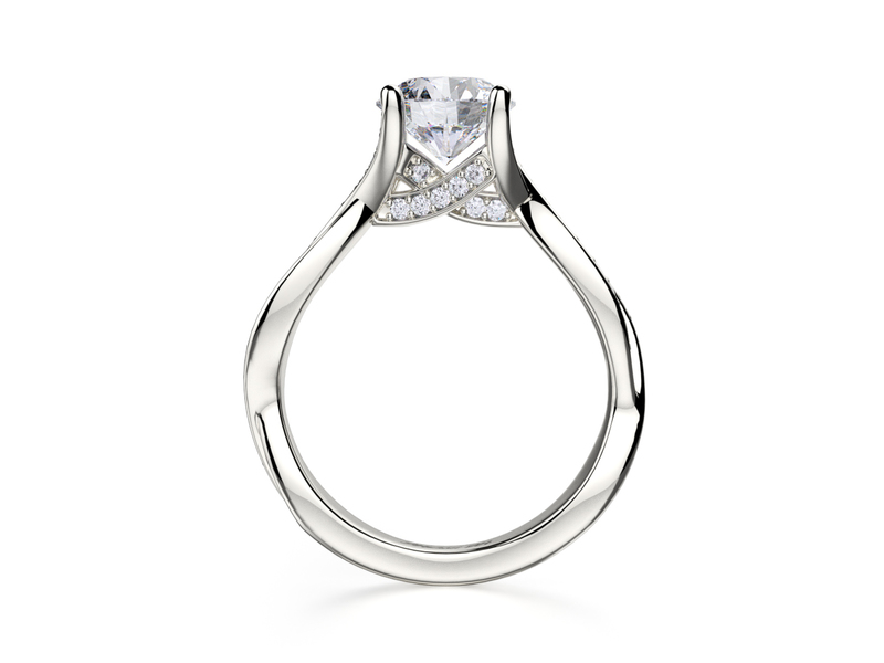 Cropped product page twisting engagement ring