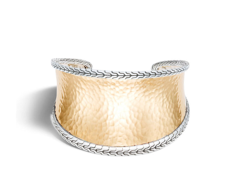 Cropped product page classic chain hammered cuff