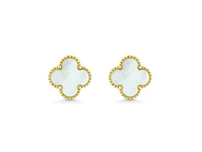 Cropped product listing mother of pearl floral earrings