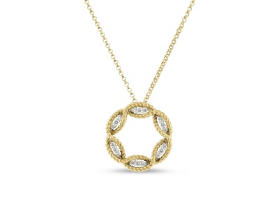 Cropped product listing diamond circle necklace