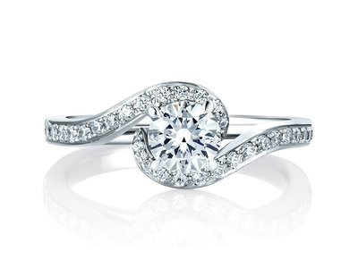 Cropped product listing delicate twist engagement ring