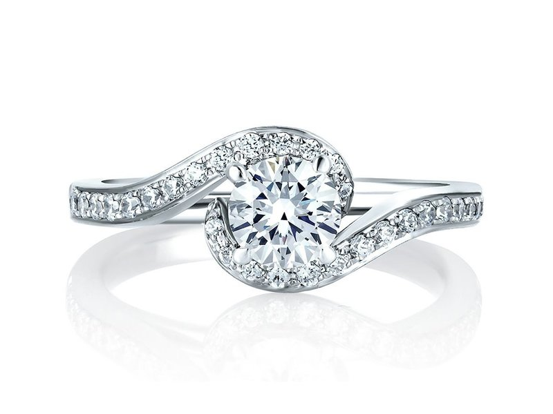 Cropped product page delicate twist engagement ring
