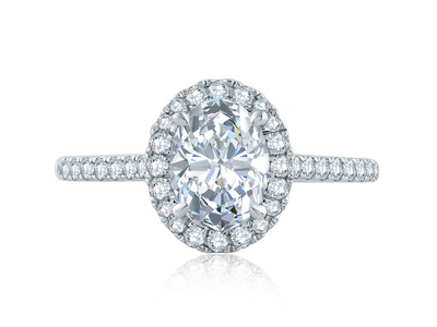 Cropped product listing oval halo engagement ring