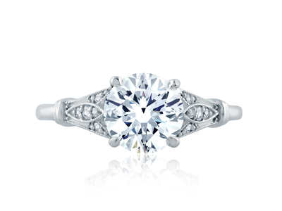 Cropped product listing art deco engagement ring