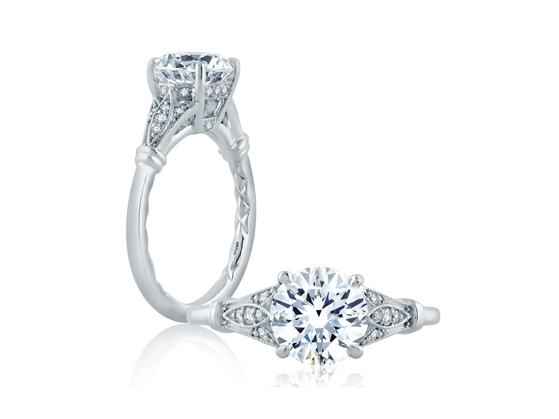 Cropped product page art deco engagement ring