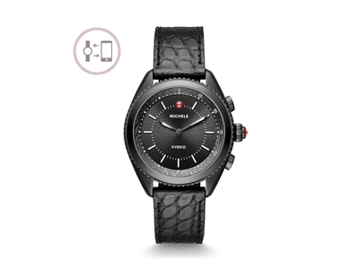 Cropped product listing black hybrid smartwatch