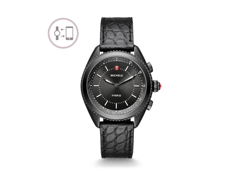 Cropped product page black hybrid smartwatch