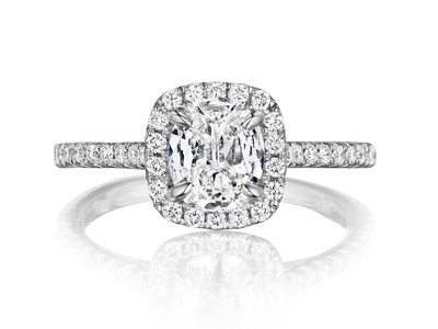 Cropped product listing cushion cut alg engagement ring
